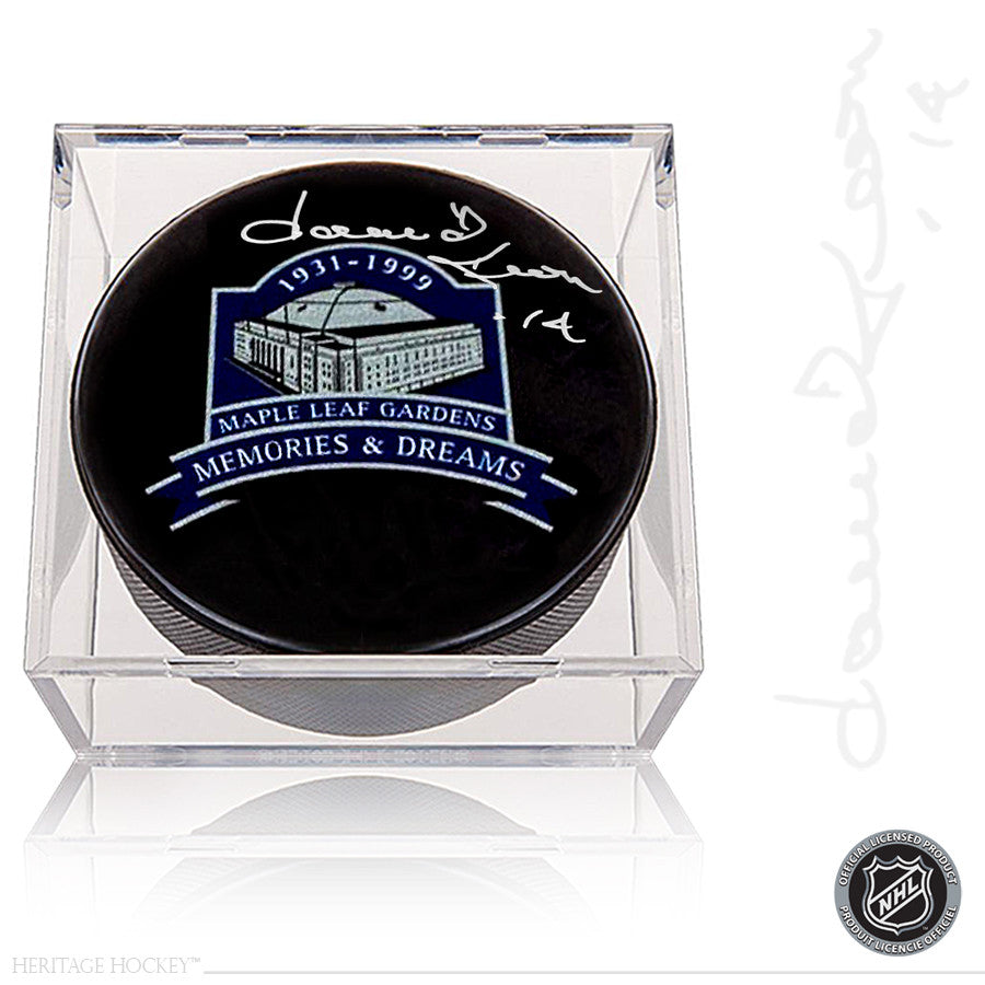 DAVE KEON AUTOGRAPHED SIGNED TORONTO MAPLE LEAFS MEMORIES & DREAMS PUCK