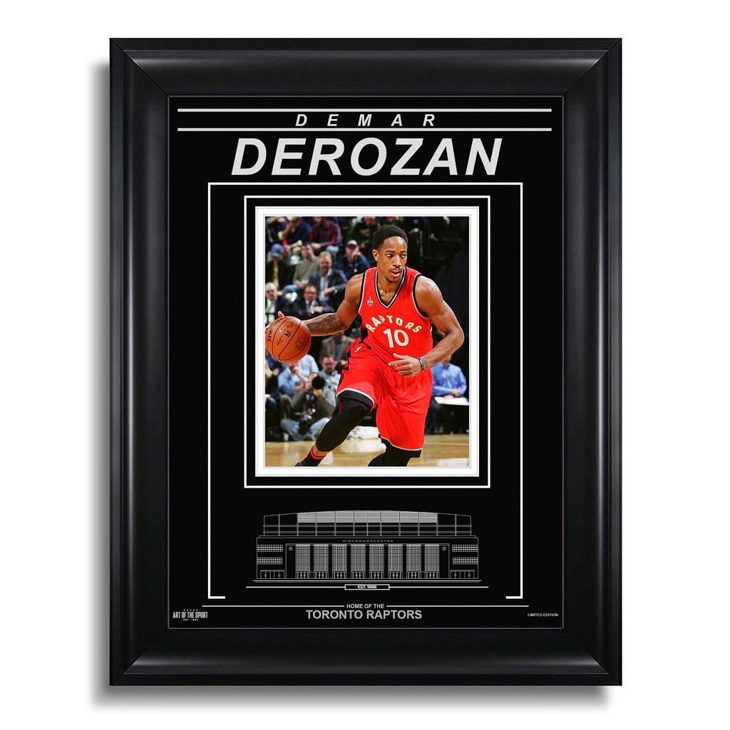 DeMar DeRozan Toronto Raptors Engraved Framed Photo - Action Close-Up