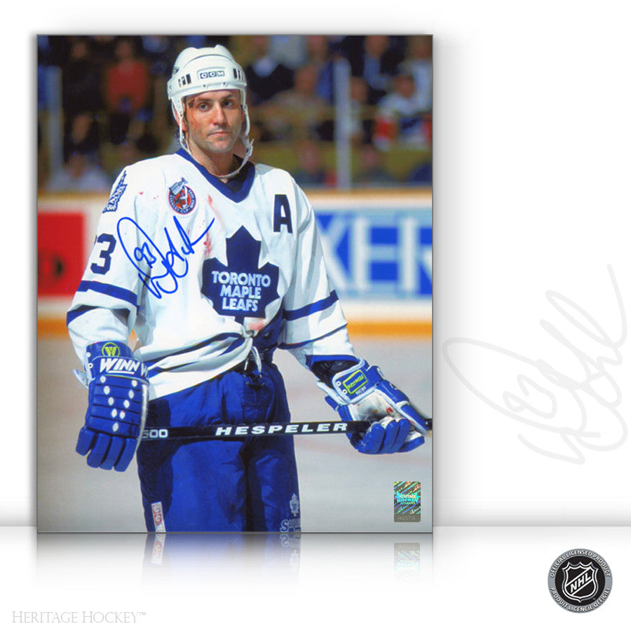 DOUG GILMOUR AUTOGRAPHED SIGNED BLOODY WARRIOR 11X14 PHOTO - TORONTO MAPLE LEAFS