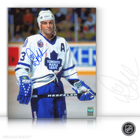 DOUG GILMOUR AUTOGRAPHED SIGNED BLOODY WARRIOR 8X10 PHOTO - TORONTO MAPLE LEAFS