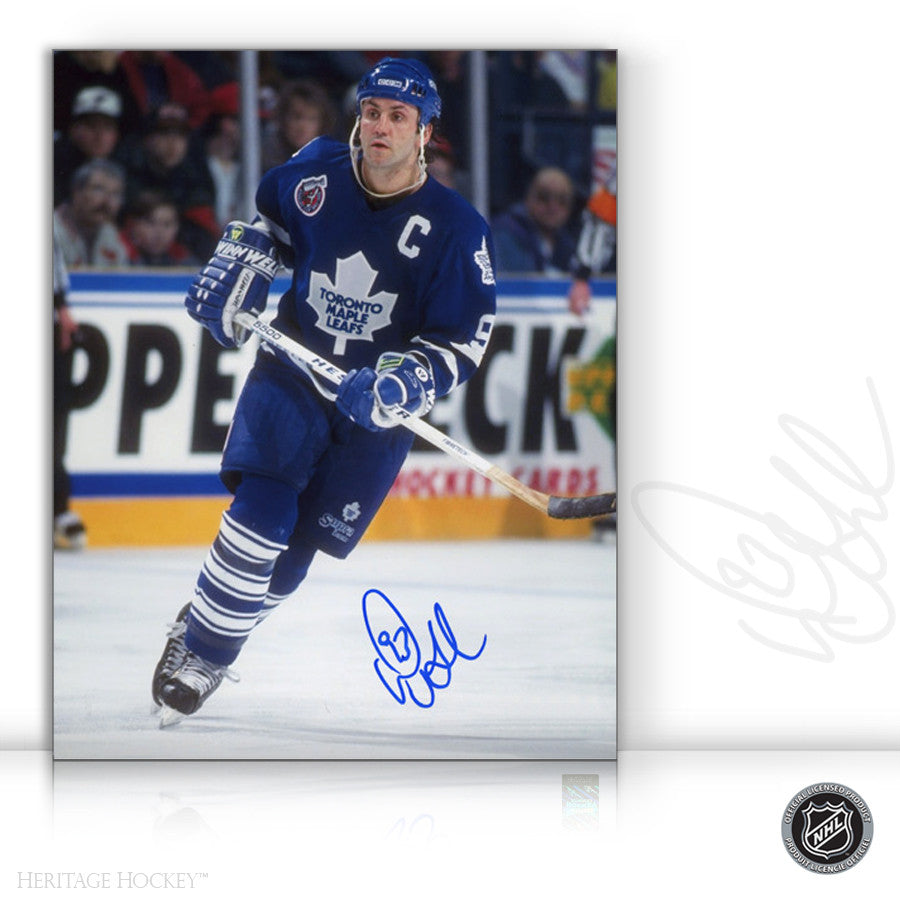 DOUG GILMOUR AUTOGRAPHED SIGNED CAPTAIN 8X10 PHOTO - TORONTO MAPLE LEAFS