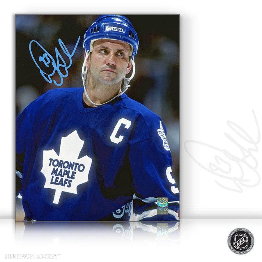 DOUG GILMOUR AUTOGRAPHED SIGNED CLOSE UP 8X10 PHOTO - TORONTO MAPLE LEAFS