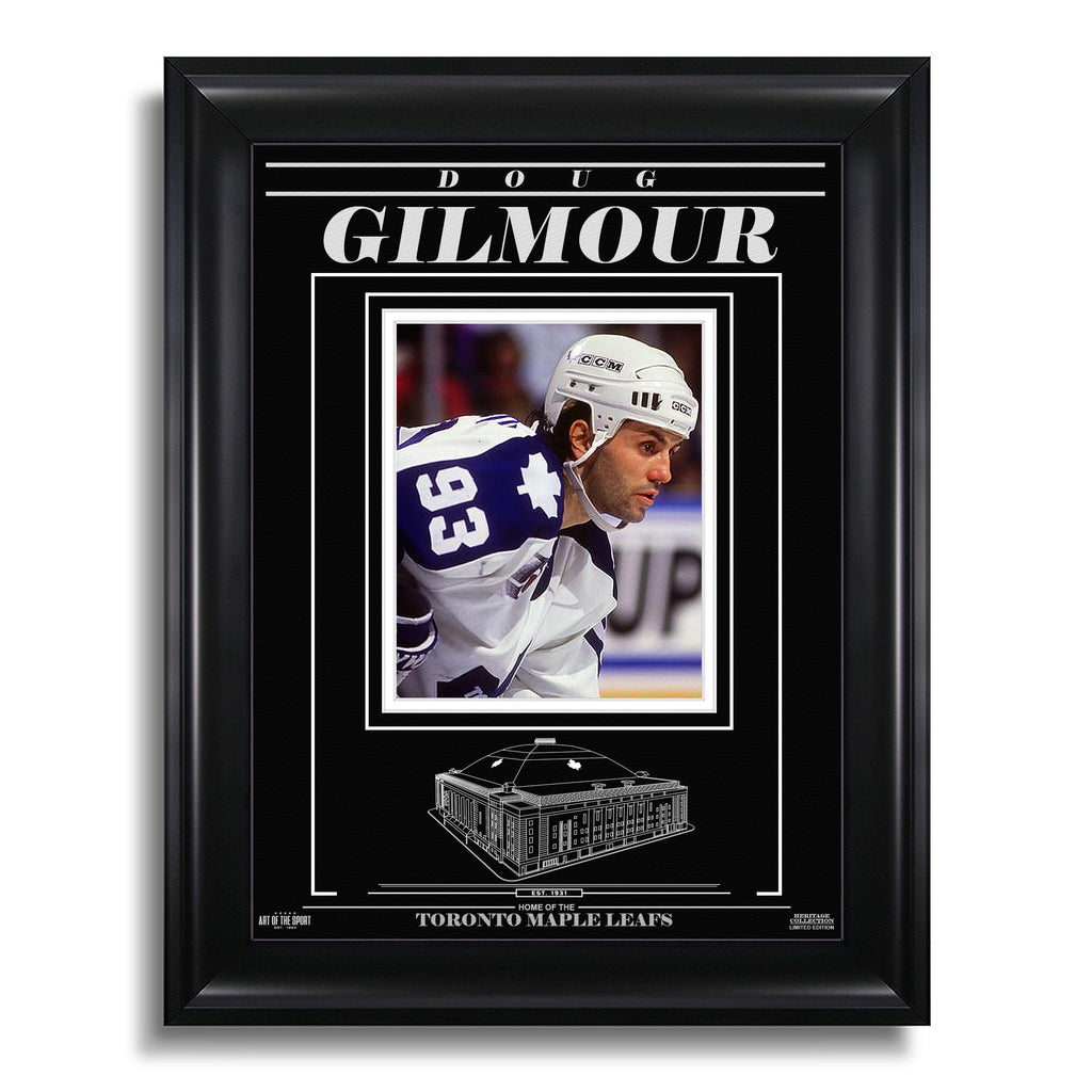 Doug Gilmour Toronto Maple Leafs Engraved Framed Photo - Closeup