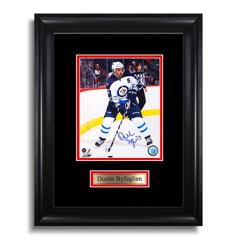 Dustin Byfuglien Signed Winnipeg Jets Framed Photo
