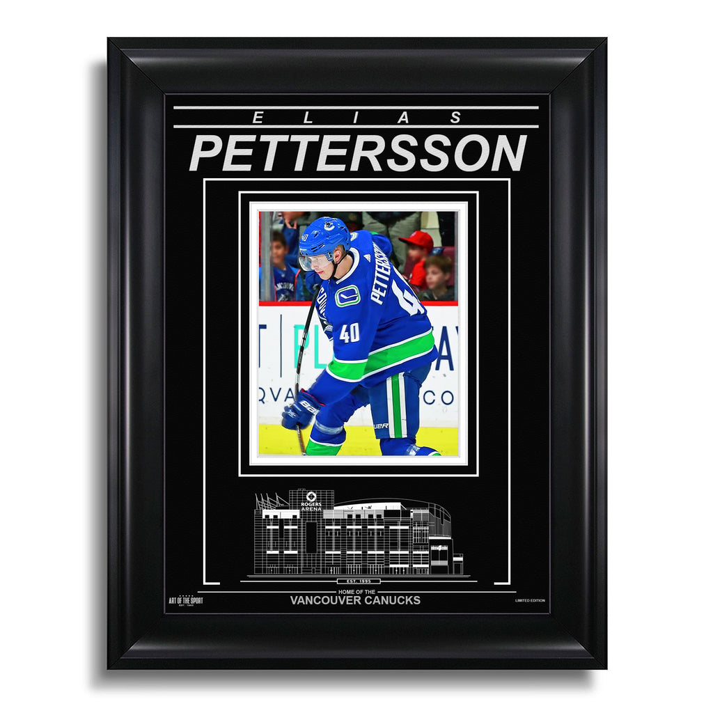 Elias Pettersson Vancouver Canucks Engraved Framed Photo - Action Flex