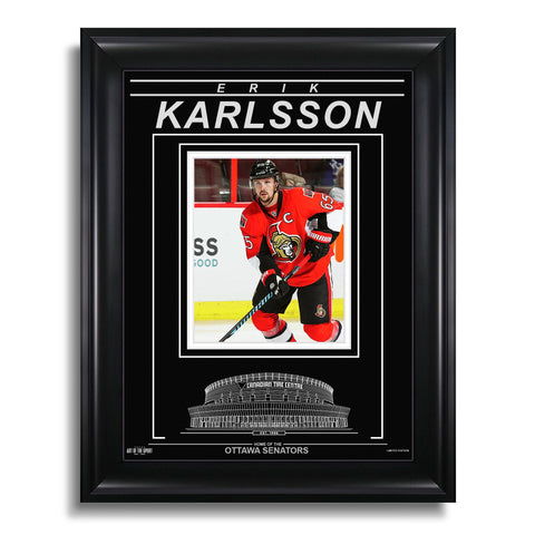Erik Karlsson Ottawa Senators Engraved Framed Photo - Action