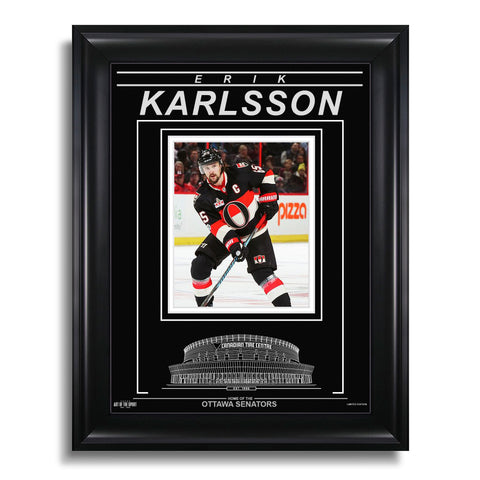 Erik Karlsson Ottawa Senators Engraved Framed Photo - Action Third