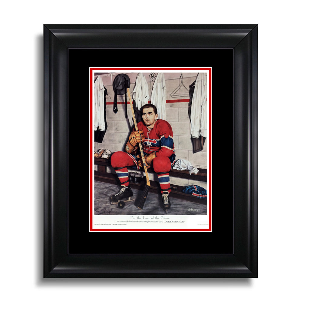 For the Love of the Game – Maurice Richard Montreal Canadiens 12 x 15 Legends Series Print