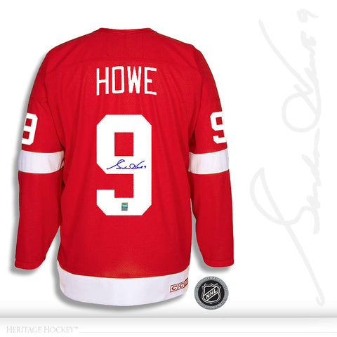 GORDIE HOWE AUTOGRAPHED SIGNED DETROIT RED WINGS CCM VINTAGE JERSEY