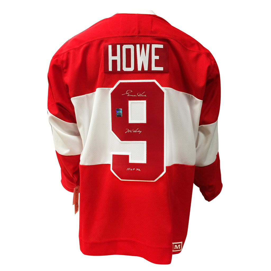 Gordie Howe Signed Detroit Red Wings Vintage Jersey