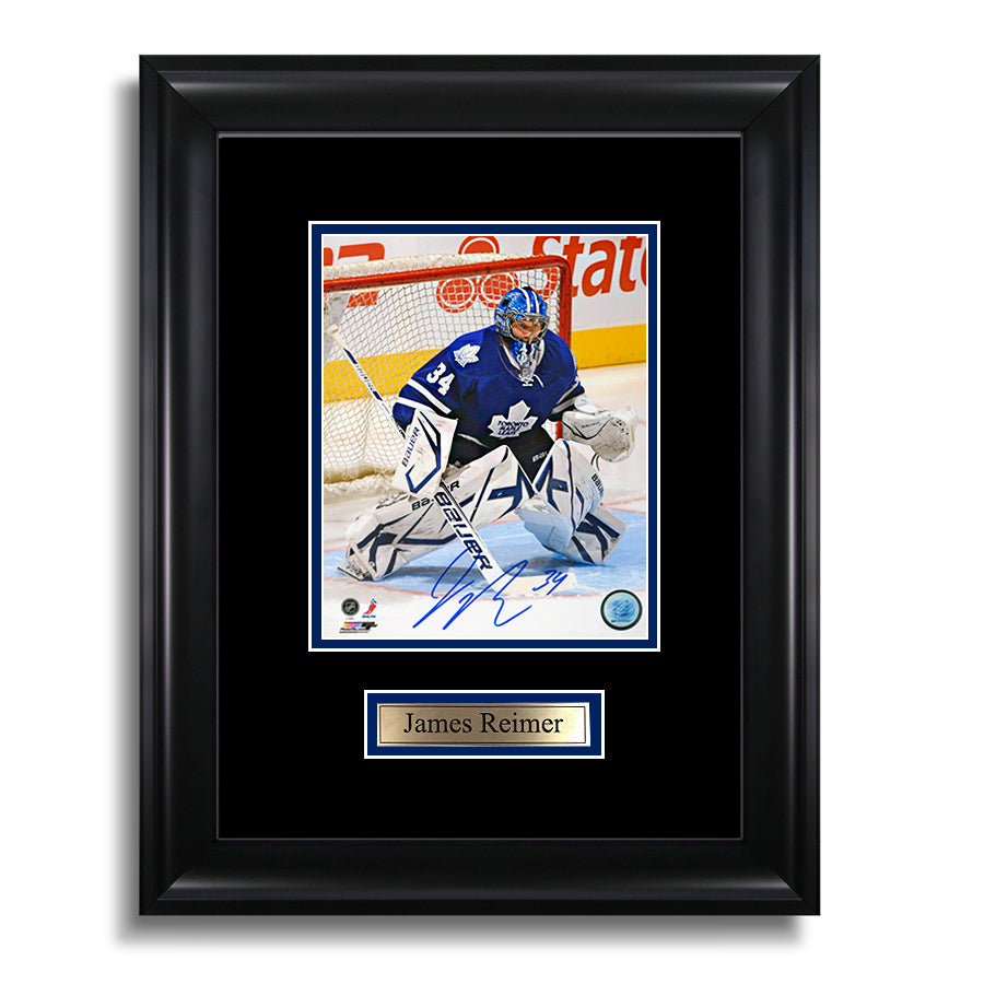 James Reimer Signed Toronto Maple Leafs Framed Photo