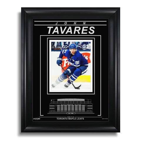 John Tavares Toronto Maple Leafs Engraved Framed Photo - Action