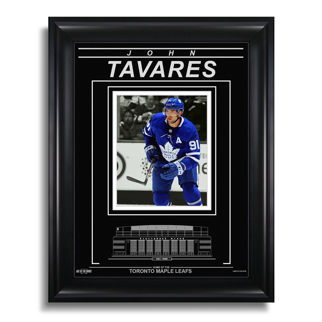 John Tavares Toronto Maple Leafs Engraved Framed Photo - Action Spotlight
