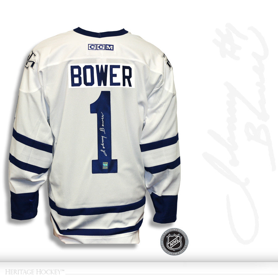 the best attitude 642b7 18877 JOHNNY BOWER AUTOGRAPHED SIGNED TORONTO MAPLE LEAFS CCM JERSEY