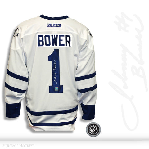 JOHNNY BOWER AUTOGRAPHED SIGNED TORONTO MAPLE LEAFS CCM JERSEY