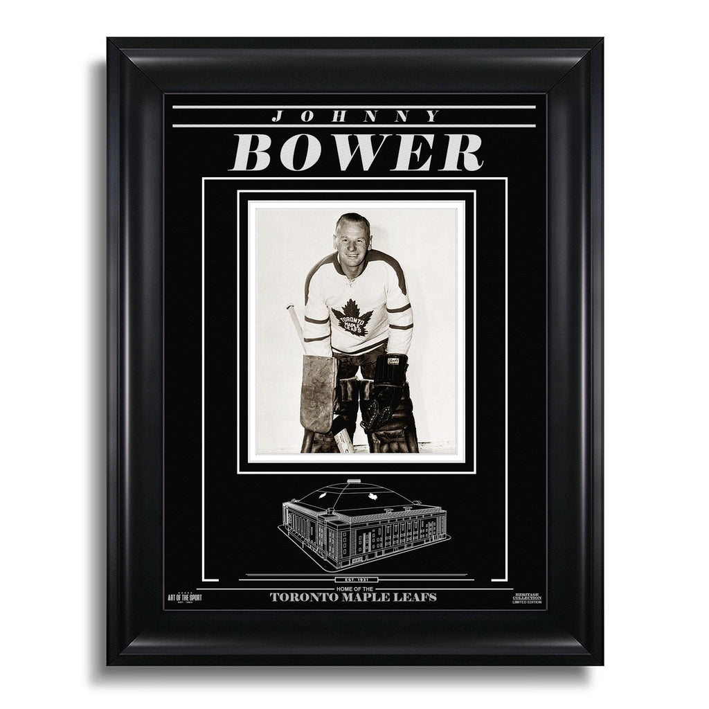 Johnny Bower Toronto Maple Leafs Engraved Framed Photo - Still