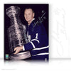 JOHNNY BOWER AUTOGRAPHED SIGNED STANLEY CUP 8X10 PHOTO - TORONTO MAPLE LEAFS