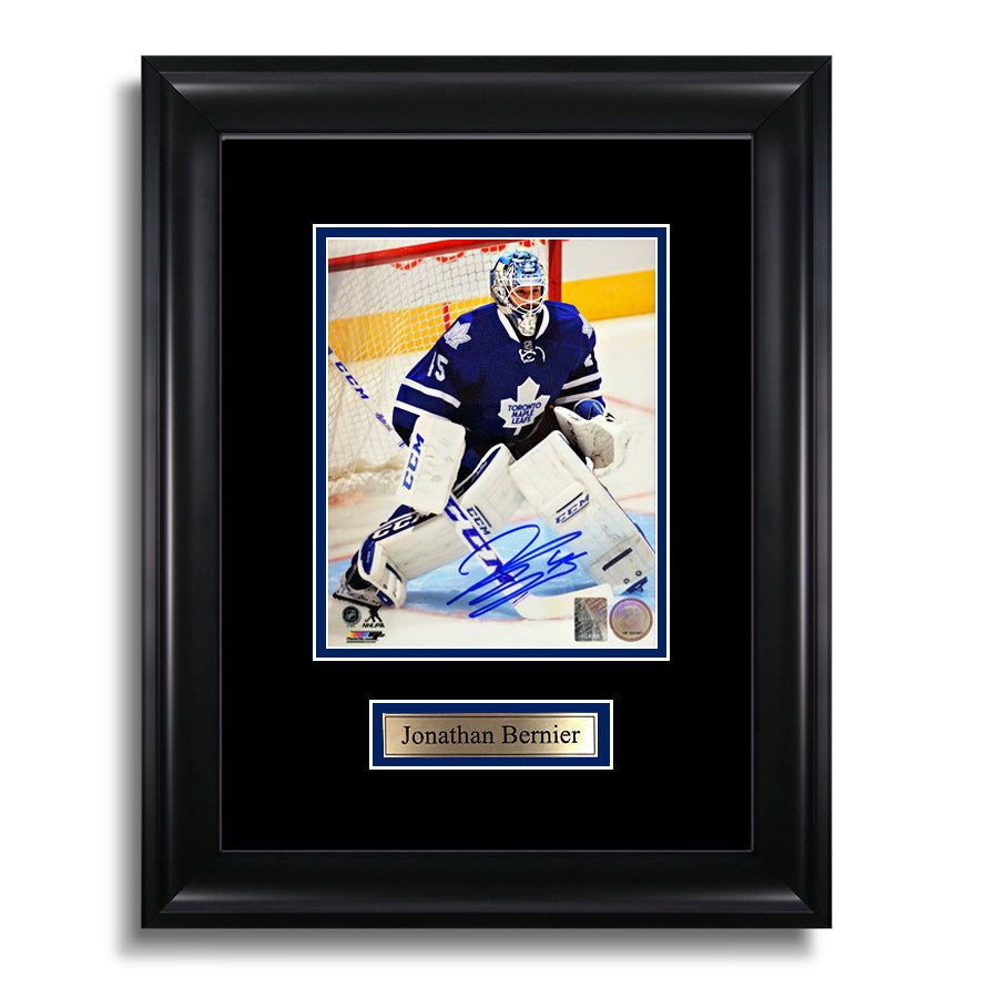 Jonathan Bernier Signed Toronto Maple Leafs Framed Photo