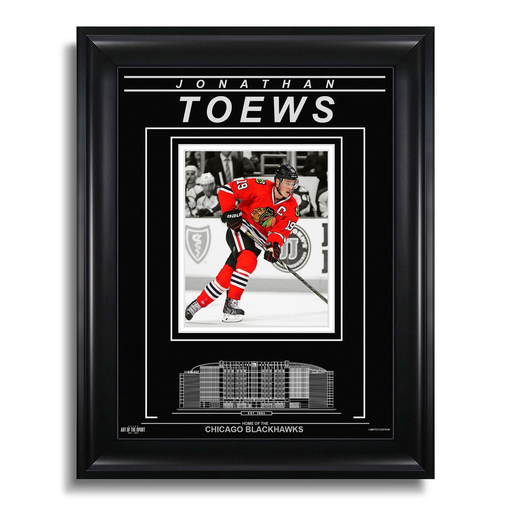 Jonathan Toews Chicago Blackhawks Engraved Framed Photo - Action Spotlight