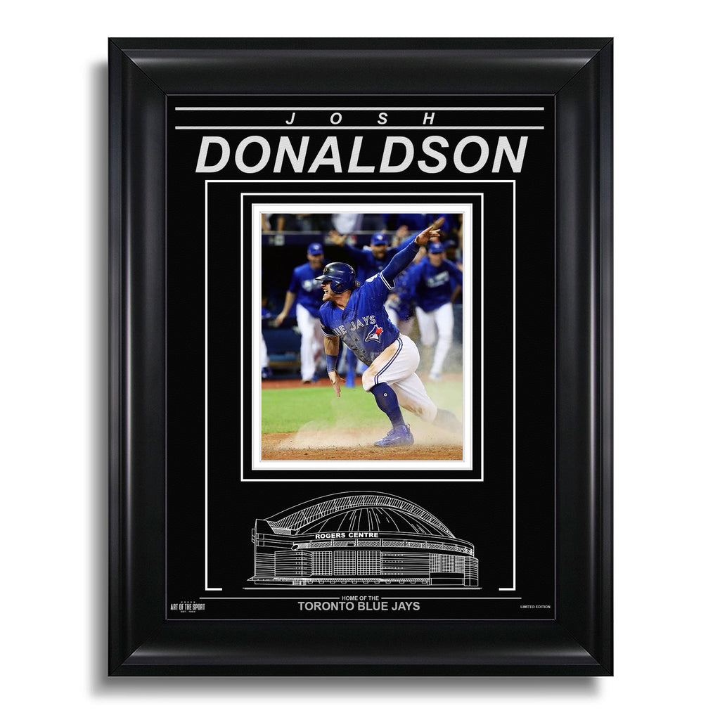 Josh Donaldson Toronto Blue Jays Engraved Framed Photo - 2016 ALDS Slide
