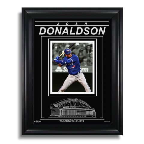 Josh Donaldson Toronto Blue Jays Engraved Framed Photo - Action Spotlight Vertical