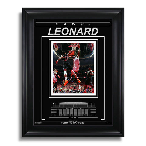Kawhi Leonard Toronto Raptors Engraved Framed Photo - 2019 Playoff Dunk