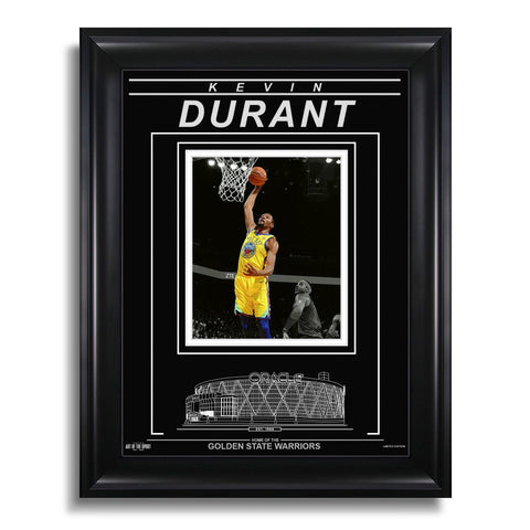 Kevin Durant Golden State Warriors Engraved Framed Photo - Action Spotlight