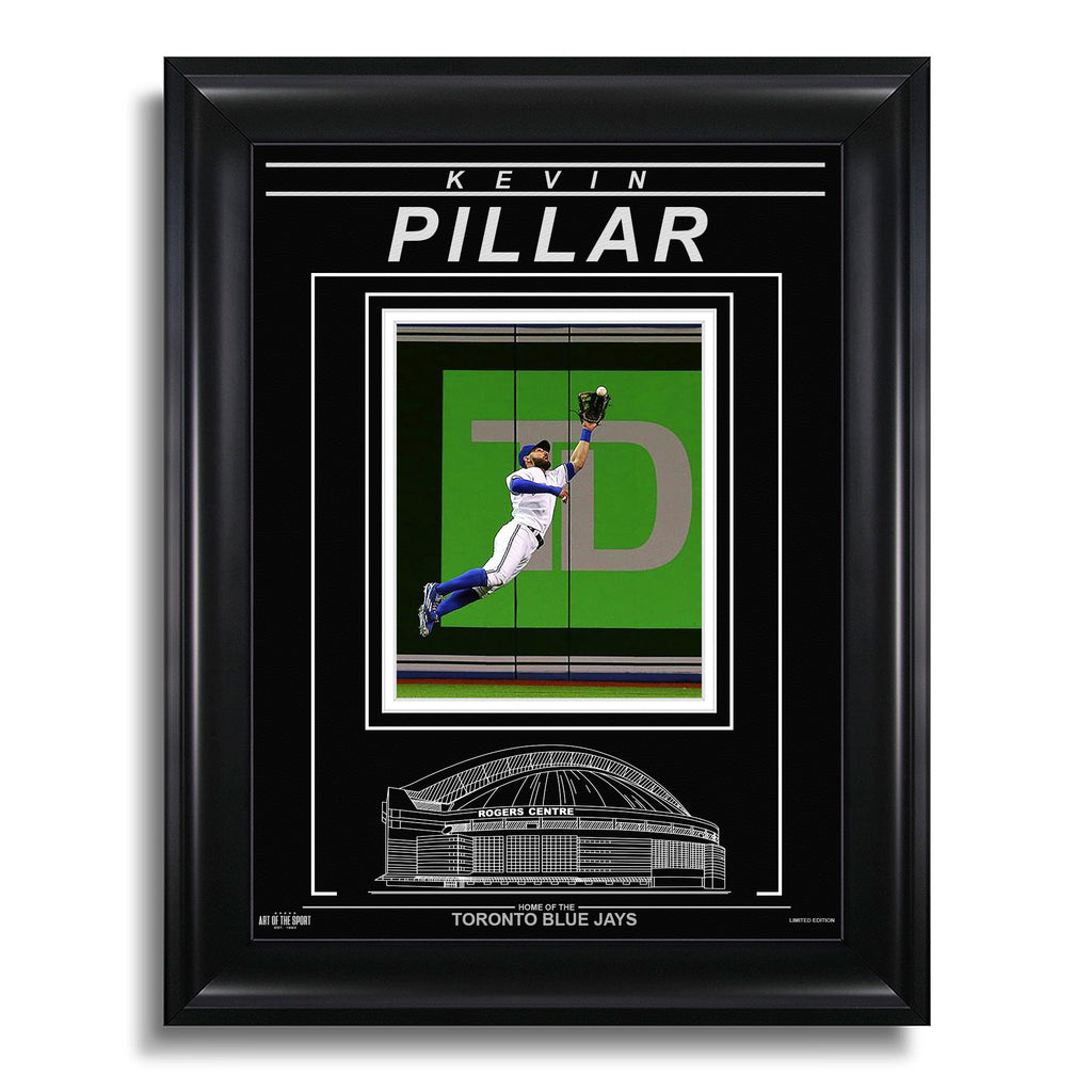 Kevin Pillar Toronto Blue Jays Engraved Framed Photo - Action Catch