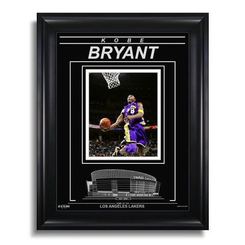 Kobe Bryant Los Angeles Lakers Engraved Framed Photo - Focus
