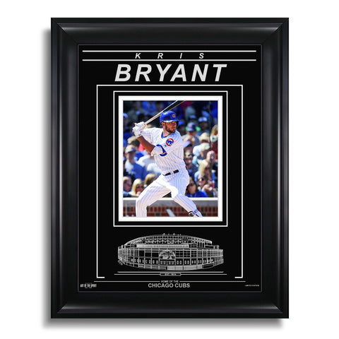 Kris Bryant Chicago Cubs Engraved Framed Photo - Action Hit