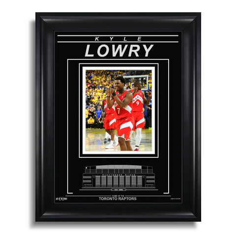 Kyle Lowry Toronto Raptors Engraved Framed Photo - 2019 NBA Finals