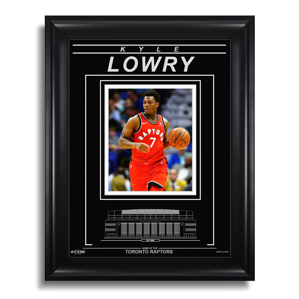 Kyle Lowry Toronto Raptors Engraved Framed Photo - Action Focus