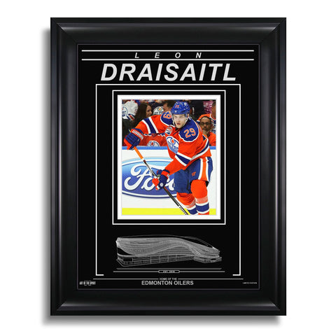 Leon Draisaitl Edmonton Oilers Engraved Framed Photo - Action Flex