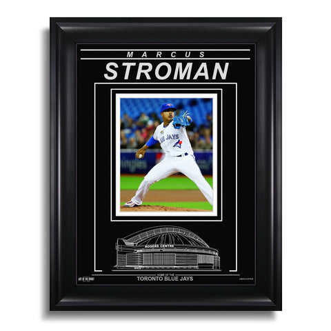 Marcus Stroman Toronto Blue Jays Engraved Framed Photo - Action Pitch Horizontal