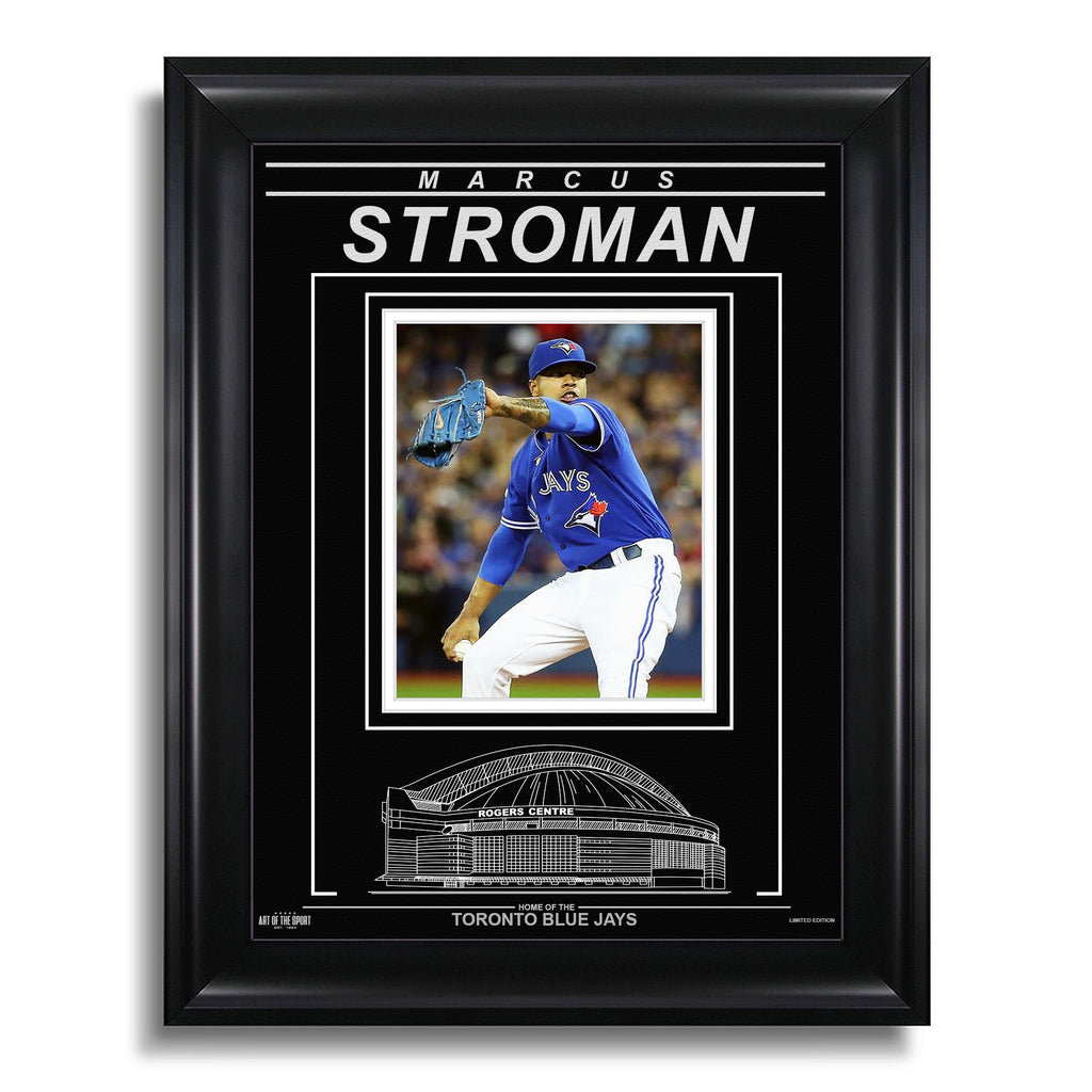Marcus Stroman Toronto Blue Jays Engraved Framed Photo - Action Pitch Vertical