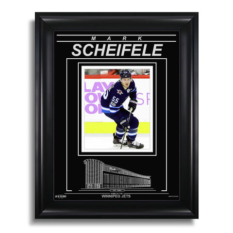 Mark Sheifele Winnipeg Jets Engraved Framed Photo - Action