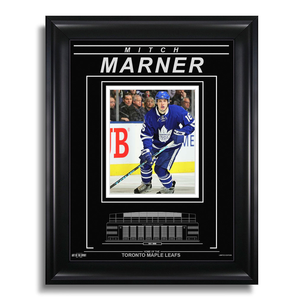 Mitch Marner Toronto Maple Leafs Engraved Framed Photo - Action Forward