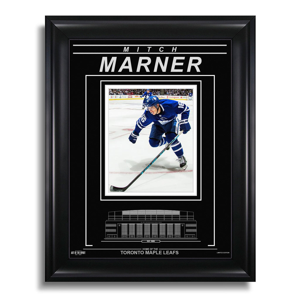 Mitch Marner Toronto Maple Leafs Engraved Framed Photo - Action Skate