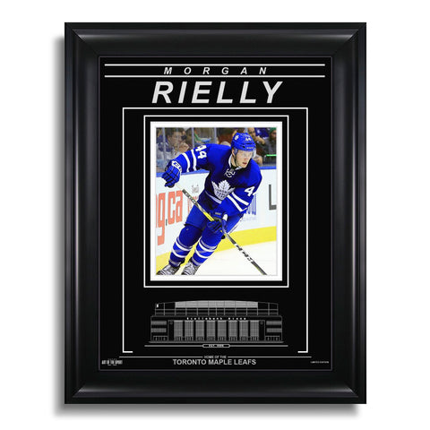 Morgan Rielly Toronto Maple Leafs Engraved Framed Photo - Action