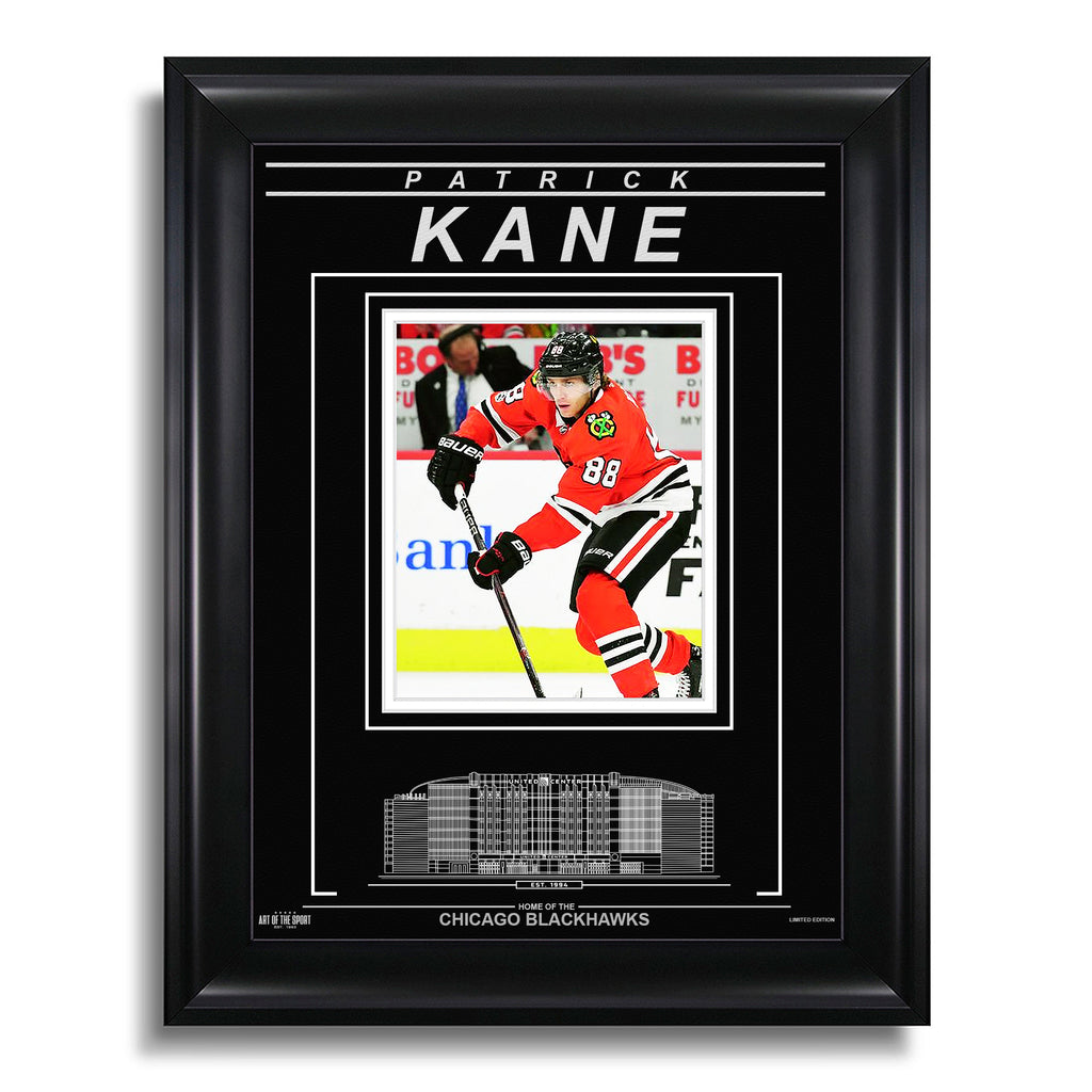 Patrick Kane Chicago Blackhawks Engraved Framed Photo - Focus