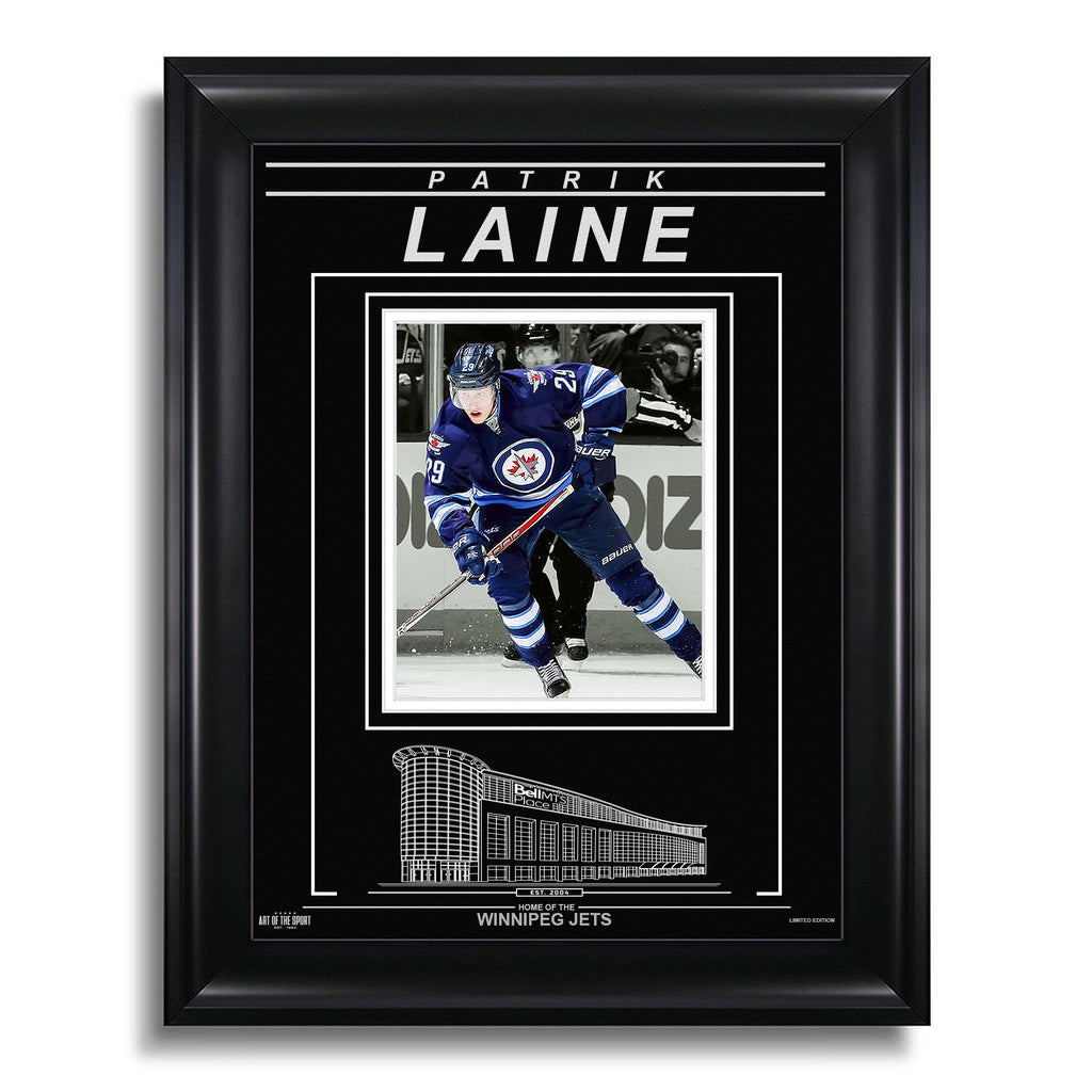 Patrik Laine Winnipeg Jets Engraved Framed Photo - Action Spotlight