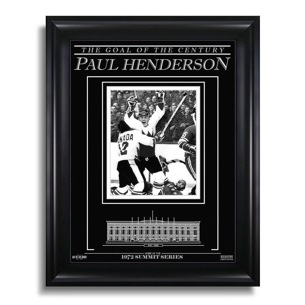 Paul Henderson Team Canada 1972 Engraved Framed Photo - The Goal of the Century
