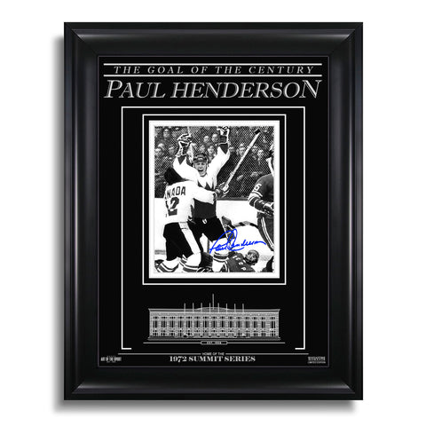 Paul Henderson Team Canada 1972 Engraved Framed Signed Photo - The Goal of the Century