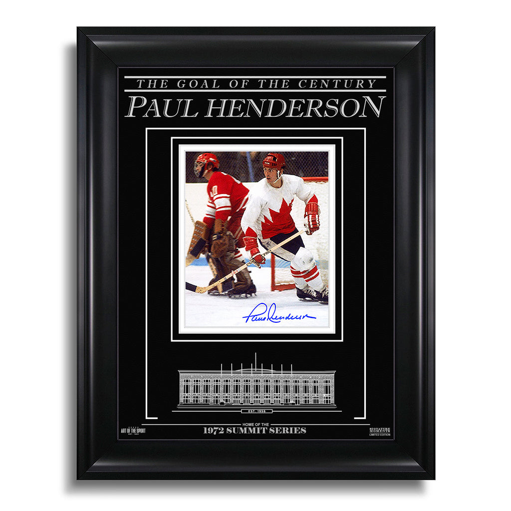 Paul Henderson Team Canada 1972 Engraved Framed Signed Photo - Focus