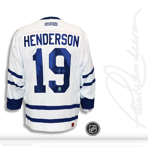 PAUL HENDERSON AUTOGRAPHED SIGNED TORONTO MAPLE LEAFS CCM JERSEY