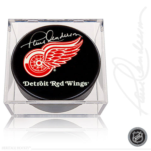 PAUL HENDERSON AUTOGRAPHED SIGNED DETROIT RED WINGS PUCK