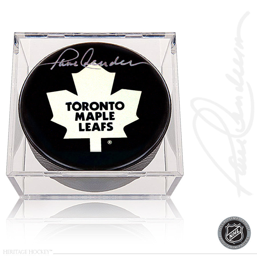 PAUL HENDERSON AUTOGRAPHED SIGNED TORONTO MAPLE LEAFS PUCK