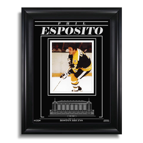 Phil Esposito Boston Bruins Engraved Framed Photo - Action Focus