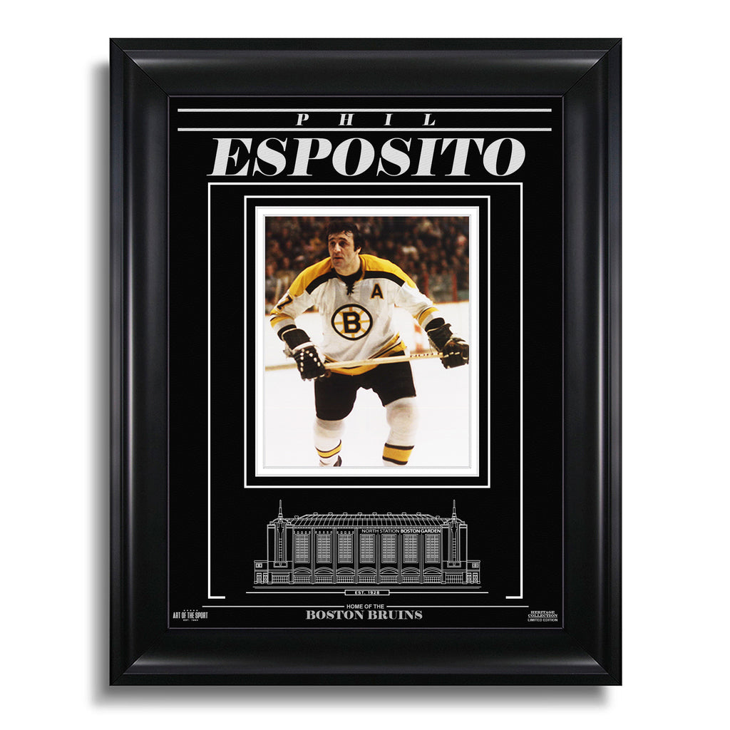 Phil Esposito Boston Bruins Engraved Framed Photo - Action Forward