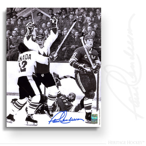 PAUL HENDERSON AUTOGRAPHED SIGNED GAME 8 WINNING GOAL 16X20 PHOTO - TEAM CANADA 1972